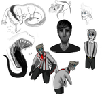 Doodles From OpenCanvas by gabsters109