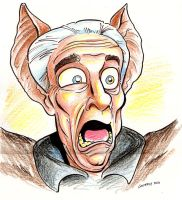LESLIE NIELSEN as DRACULA by DadaHyena