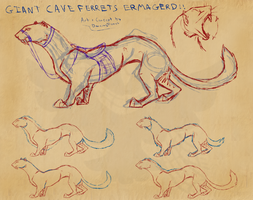 Giant Ride-able Cave Ferret Lol by DancingFerret