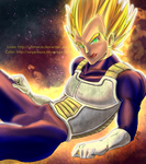 COLLAB: Why, hello there... - Vegeta (DBZ) by ultimecia