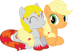 Vector Request (Sunset Rose + Applejack) by Spaz-Featherbrain
