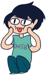 Me Sittn With A Dweeb Shirt.PNG by Torn-apart-paper