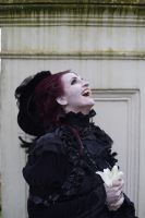 Stock - Vampire fun lady laughing by S-T-A-R-gazer