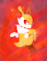 Braixen by pinkfrilly
