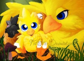 "Babies' First ""Kweh"" WIP 3 by KatOtter"