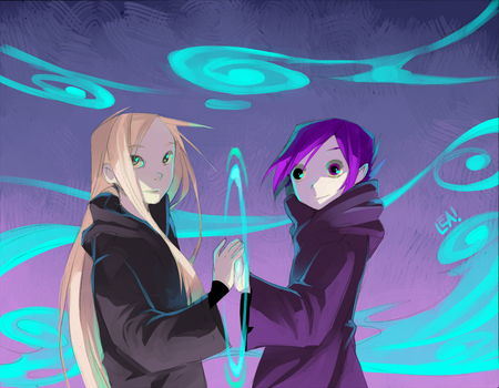 The Two Magicians by Leaglem