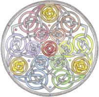 Colorful Life Mandala by Spiralpathdesigns
