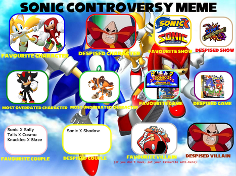 Sonic Controversy meme by NikGutendorf