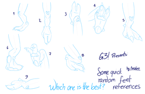 Aurie's random feet references by G3Drakoheart-Arts
