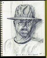 Serious man wearing a hat by Tananarivo