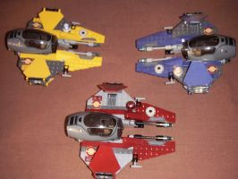 Lego Jedi Interceptors by BrigadierDarman