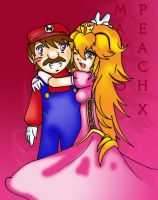 PEACH X MARIO for KittyKatstar by Da-sama