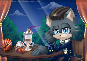 In the cafe~ by Jealous-Sky