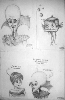 Megamind's Sketchies by clemce666