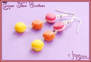 Summerized Macarons - Earrings by Jeyam-PClay