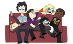 Group of friends by DrugLordIquana