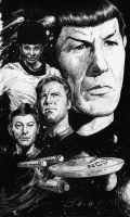 Star Trek:46th Anniversary Sketch by superupaman