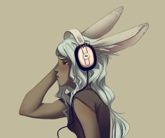 bunnyheadphones by doven
