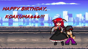 Koakuma666 Birthday Pic 2013 by TuffTony