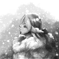 Under the snow by YukariTheRondinel