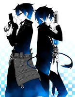rin and yukio by YOURsSMILEY
