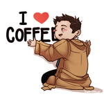 Cas Loves Coffee by spider999now