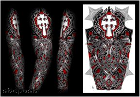 Nathaniel Celtic full sleeve by shepush