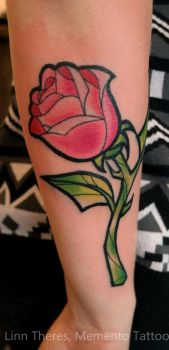 Beauty and the beast rose by Mythos-Tattoo