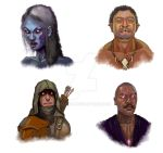 Character Portraits by Jelux09