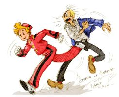 spirou et fantasio fan art by jinguj