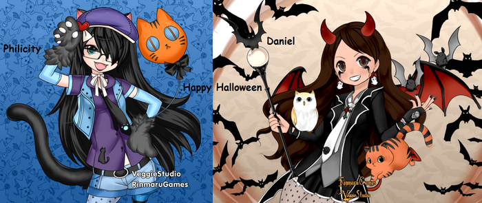 Happy Halloween Evil-Kittens by Quilava2501
