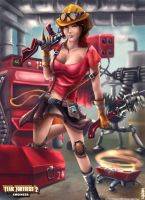 Team Fortress 2 Fanart - Engineer by yiyang1989