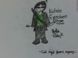 Katniss... with her night glasses! by vibby-k