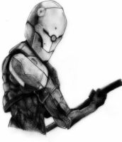 metal gear solid - gray fox by deathlouis