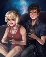 Commission: Tia and Cole by juhaihai