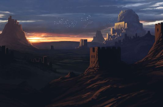 Castle Valley - Sketch Refined + Video! by Colormate
