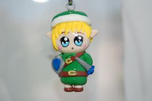 Link Chibi Polymer Clay Charm by puddingfishcakes