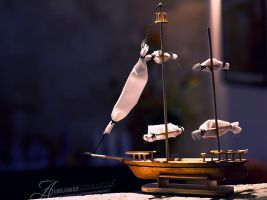 Little Wooden Betty boat by enemia