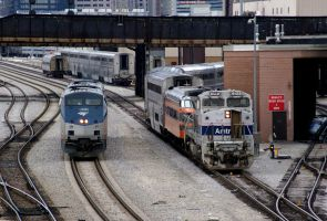 Amtrak Engines Swithing by JamesT4