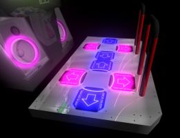 3D DDR Machine - Pad by cfusionpm