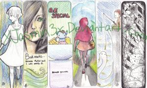 Bookmark design pack 1 by XJasmin3x