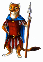 An Ancient Mustelid Warrior by Avanii