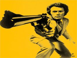 dirty harry - clent eastwood by desithen