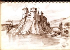 castle on the rock by Sedeslav