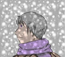 Smile in the cold snowfall by Hidden-Falls-Girl