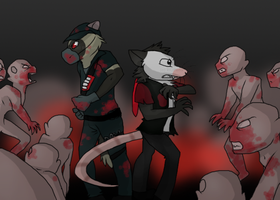 A bunch of monsters ~ Comission for Ratce8386 by RIOPerla