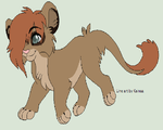 Cub For Theliondemon-kaimra by akeena7