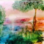 Landscape Abstract Painting by SebastianDeLuna