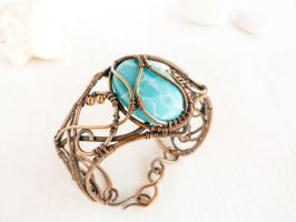 Sea for Manatees - wire copper bracelet by UrsulaOT