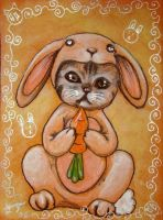 Chinese Zodiac Kitty - RABBIT by BlackAngel-Diana